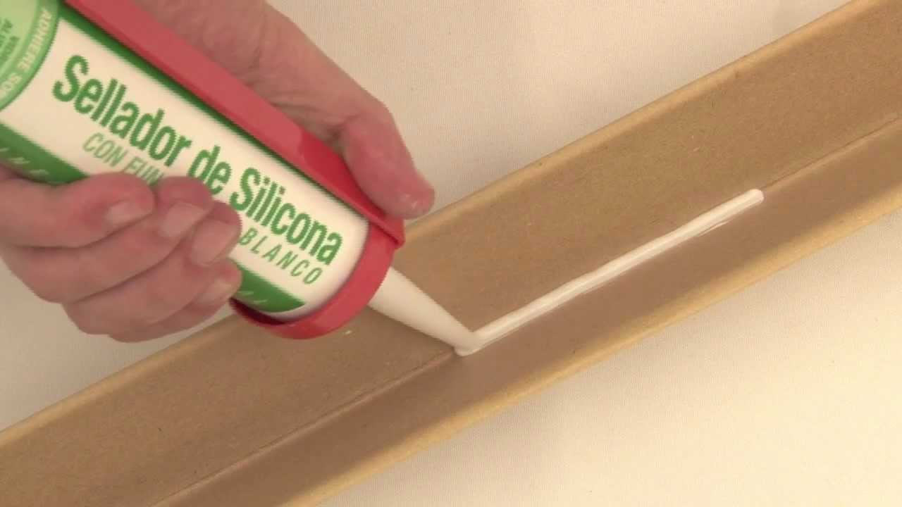 Modo de uso sellador de silicona blanca en cartucho - Sellador de silicona ...