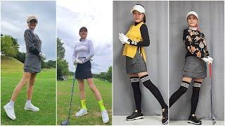 25차 가을여성골프웨어 따뜻한 느낌으로 코디 골프 리본…