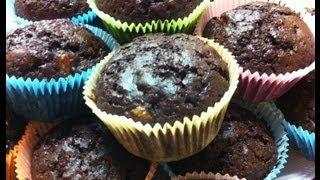 Receta: Muffins Veganos De Chocolate Y Banana - La Cocinadera