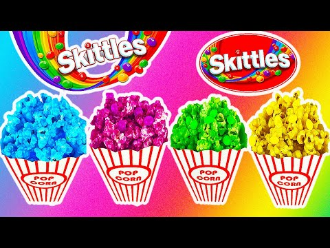 DIY SKITTLES POPCORN! RAINBOW, TASTY POPCORN TREAT!  *NINTENDO SWITCH GIVE-AWAY!!!*