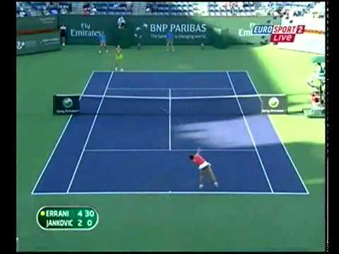 Jelena Jankovic vs Sara Errani Indian Wells 2010 Highlights part 1