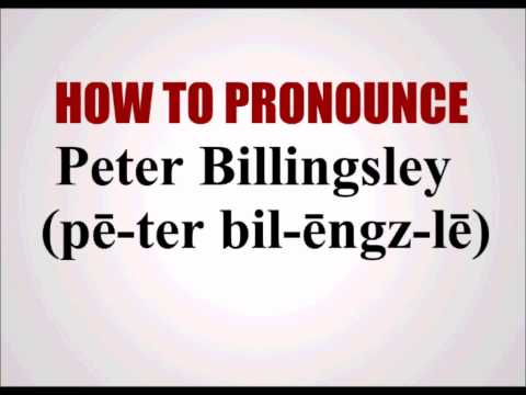How To Pronounce Peter Billingsley