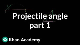 Optimal angle for a projectile part 1: Components of initial velocity