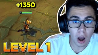 EZREAL HAD 1350 GOLD LEVEL 1 WITH THIS TRICK!