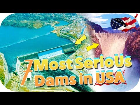 7 Real American Dam  ,Biggest ,highest,largest and hydroelectric power with drone footage