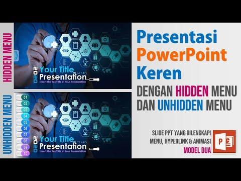 Presentasi PowerPoint Keren dengan Hidden dan Unhidden Menu