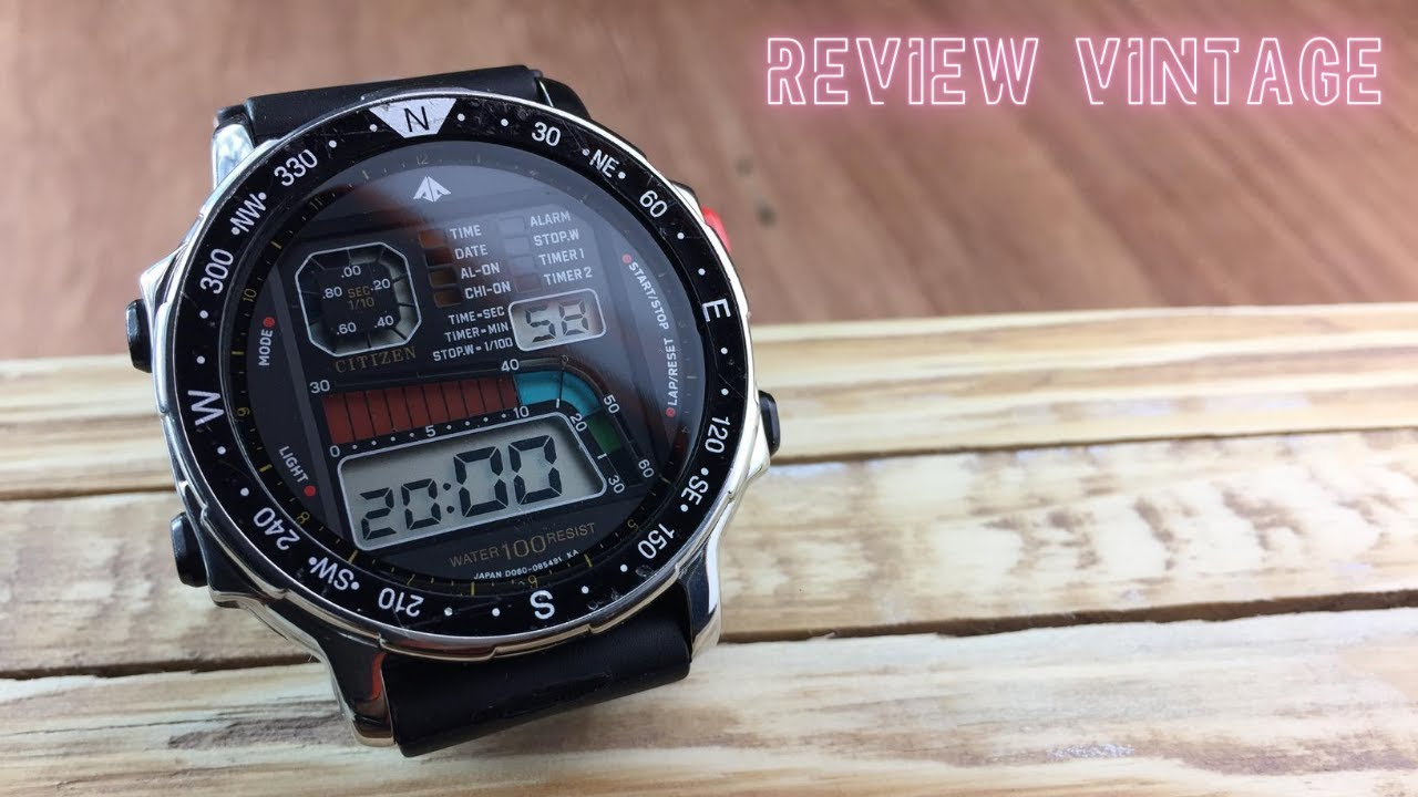 Sonho dos Anos 80 - Review Vintage Citizen Windsurfing