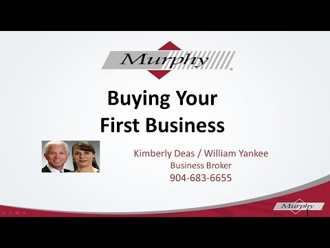 Buying your first business: How to buy a business - Jacksonville, Florida v2