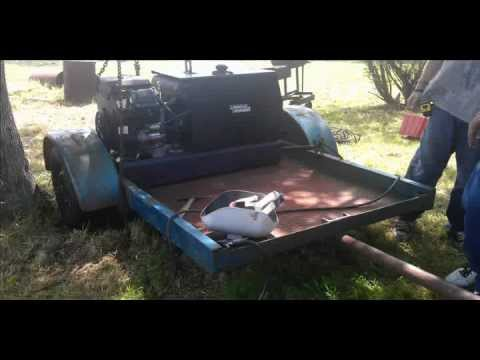 Portable Welding Trailer Set Up And Maint On The Bbq Pit