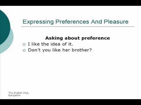 Expressing Preference \u0026 Pleasure [Unit 15]