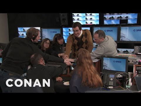 The C-SPAN Control Room During The Impeachment Trial - CONAN on TBS