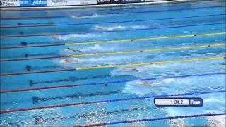Women's 200m Freestyle Swimming WC Doha 2014 (25 m), Sarah Sjöström – Gold Medal, World Record.
