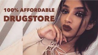Full Face Affordable Drugstore Beat Face Makeup | TRUE BROWN K KYLIE LIP KIT DUPE  MAKEUP TUTORIAL