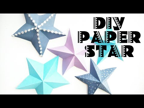 DIY PAPER STAR/CHRISTMAS DECORATION / CRAFT ACTIVITIE FOR KIDS