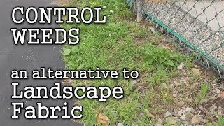 Landscape Fabric Pros & Cons Finding an Alternative thru Sheet Mulching for Weed Control Video