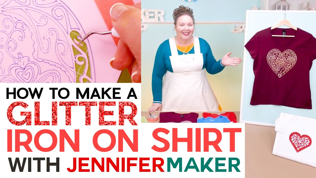 How to Make a Glitter Iron On Shirt - Beginner Friendly Tutorial with Weeding Tricks!