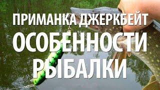 ПРИМАНКА ДЖЕРКБЕЙТ. ЛОВЛЯ ХИЩНОЙ РЫБЫ на ДЖЕРКБЕЙТЫ(Ловля щуки, окуня на приманку джеркбейт. Особенности спиннинговой рыбалки на джеркбейты, снасть, как выполн..., 2015-05-31T13:18:04.000Z)