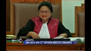 Gugatan Praperadilan Ditolak Hakim, Luna Maya-Cut Tari Masih Jadi Tersangka - INews Malam 07/08