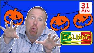Halloween + PIU' MOSTRI   Storie in Italiano per Bambini   Steve and Maggie Italiano