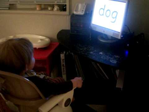 "Liam watching ""My Baby can Read"""