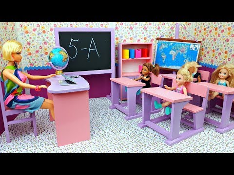 Barbie school morning routine first lesson