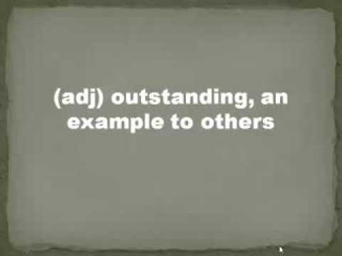 ACT Vocabulary Top 100 Terms