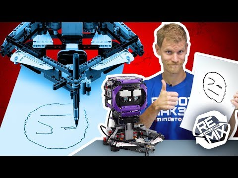 DOODLEBOT: Remix Reveal Video - Drawing Robot | LEGO MINDSTORMS & LEGO Technic