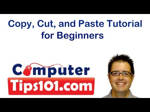 Copy, Cut, and Paste Tutorial for Beginners using Windows