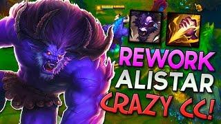NEW ALISTAR REWORK JUNGLE - CRAZY CC! - League of Legends