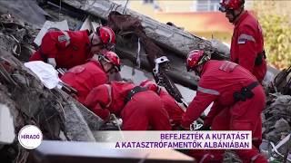 Befejezték a kutatást a katasztrófamentők Albániában