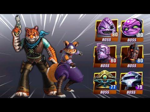 Alopex and Tiger Claw VS Big Bosses - Teenage Mutant Ninja Turtles Legends