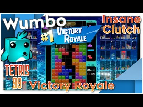 Tetris 99 - Insane Clutch Victory Royale with Crazy T-Spins