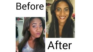 how to   get rid of frizzy ends from synthetic weave wig extension