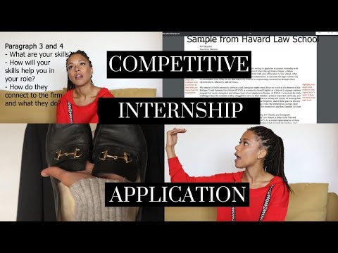 LAW SCHOOL: A-Z How To GET A COMPETITIVE INTERNSHIP - Planning, Cover Letter, Interview Ect
