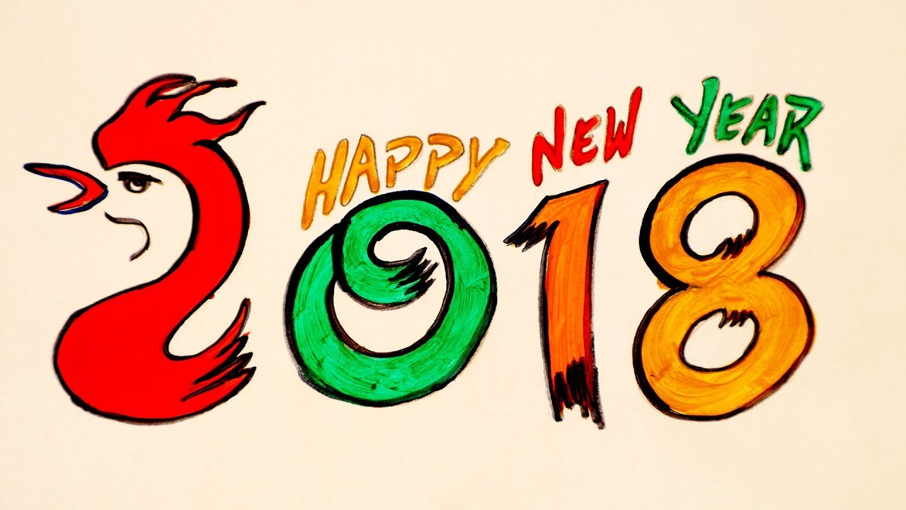 happy new year 2018 new year greetings wishes for kids diy easy painting ideas silly kids