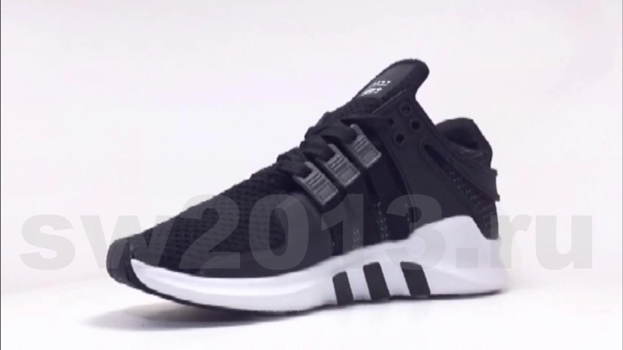 3a234265b Adidas EQT Support ADV Black White Grey - YouTube