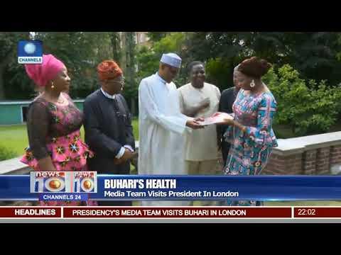 Media Team Visits President Buhari in London