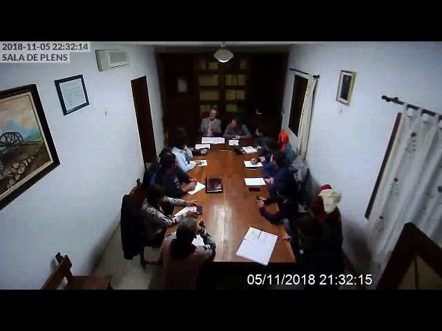 Sessió Extraordinària de Ple 5-11-2018