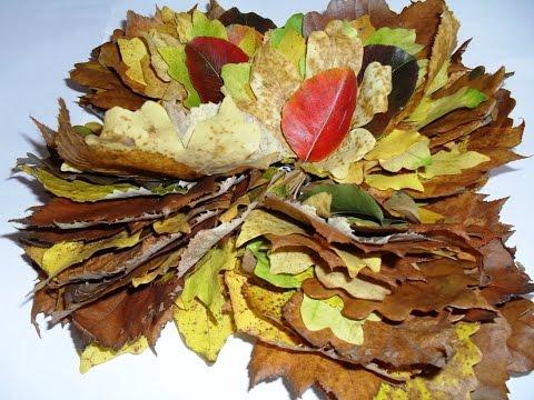 Fall Decorating Ideas - DIY Leaf Decorations