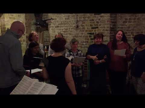 Music Hall Choir Singing the Lambeth Walk
