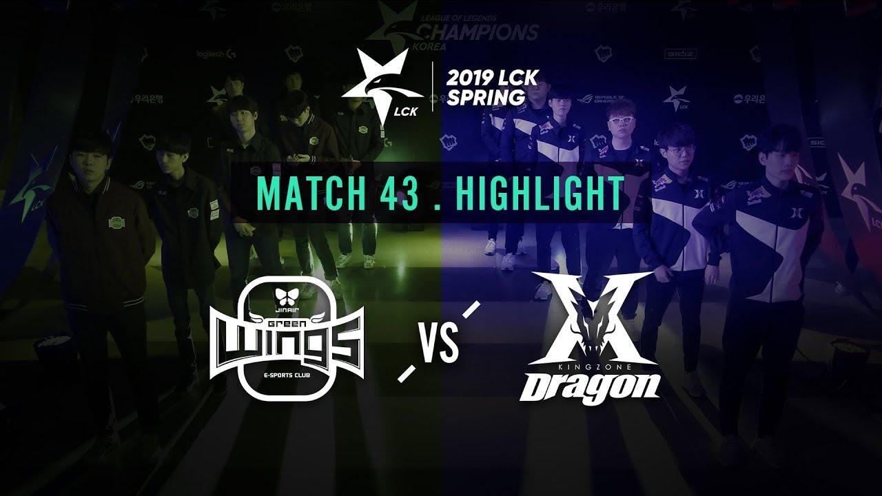 [2019 LCK SPRING] 0221 Match43 : JAG vs KZ Highlight