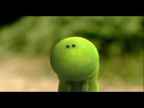 Мультфильм про червяка и яблоко