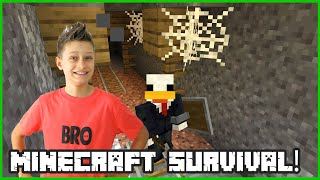 Playing Minecraft Survival on a Combat Update