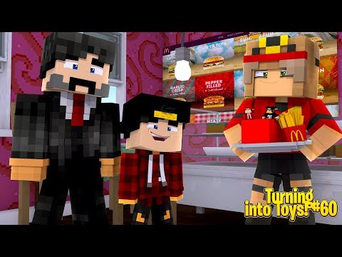 Minecraft TOYS #60 - TOY ROPO & JACK GET INTO A McDONALDS HAPPY MEAL!!!