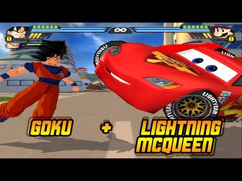 Goku and Lightning McQueen Fusion| Transformers Optimus Prime Meets DBZ | DBZ Tenkaichi 3 (MOD)