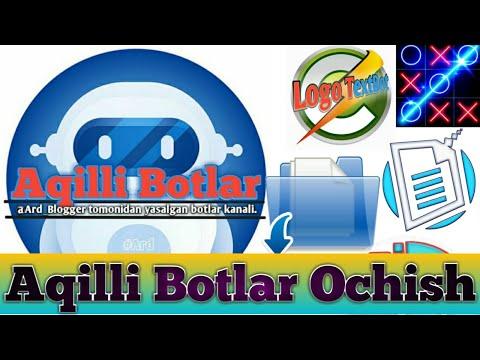 Aqilli bot ochish | PHPda bot ochish | Hostingsiz PHP bot ochish | telegramda bot ochish | bot ochiw