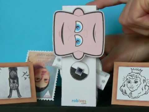Papercraft Flip Face, paper model with