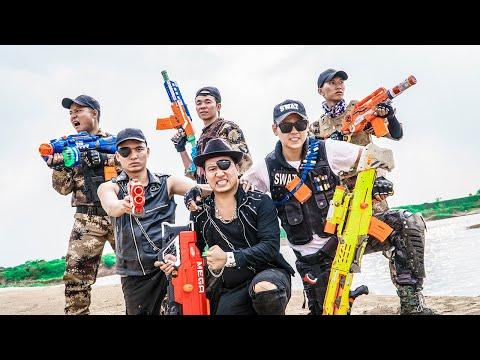 LTT Game Nerf War : Captain Warriors SEAL X Nerf Guns Fight Criminal Group Inhuman Looting Gang |
