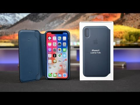 Apple iPhone X Leather Folio Case: Review