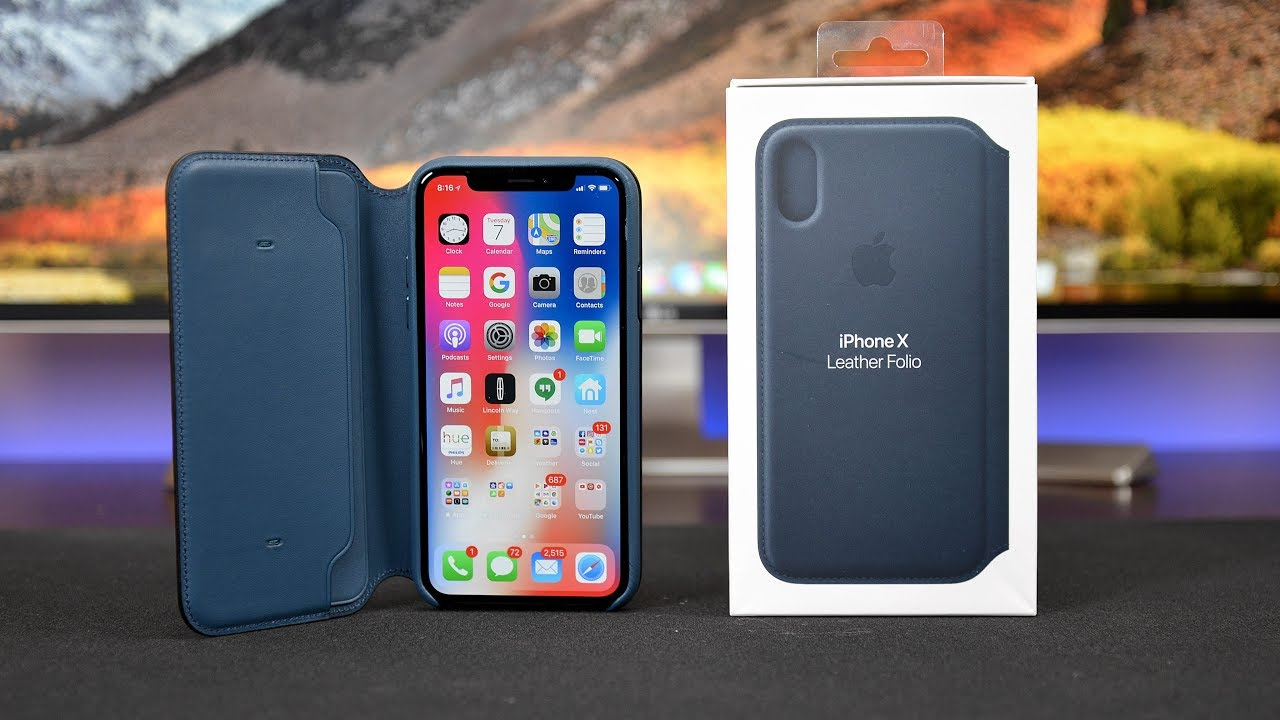 d54a58d52e0cea Apple iPhone X Leather Folio Case  Review - YouTube